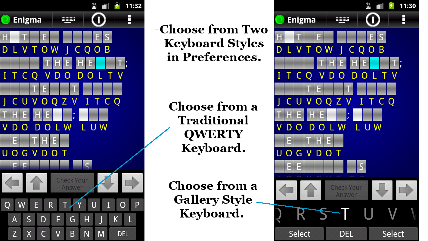 Enigma Cryptogram Keyboard