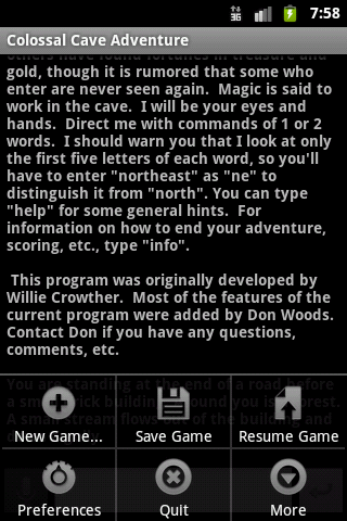 Colossal Cave Adventure Screen Shot