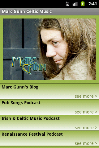 Marc Gunn Music Screen Shot