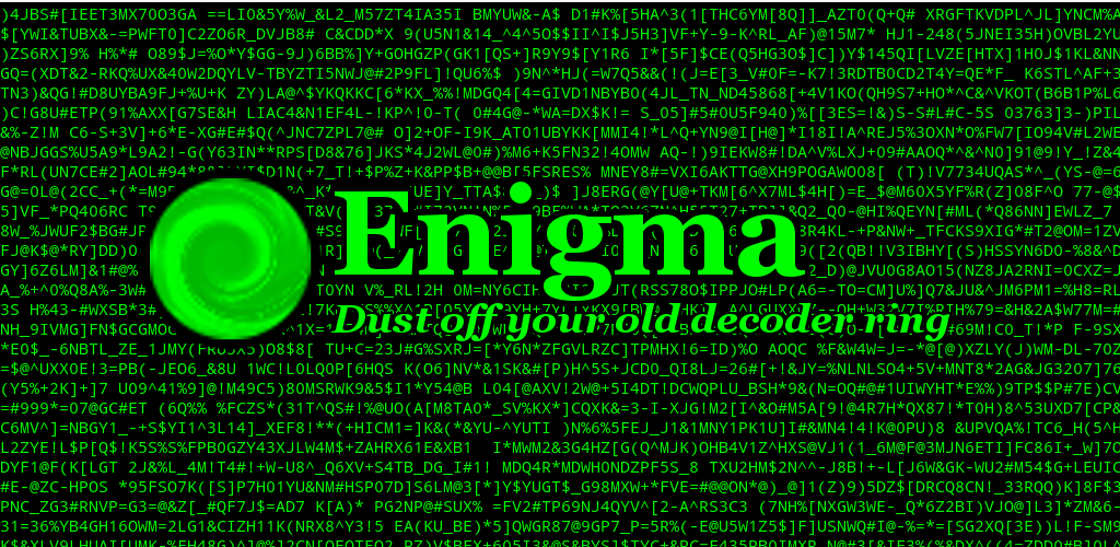 Enigma Banner Image